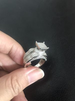 925 sterling silver ring iced out white for Sale in Philadelphia, PA