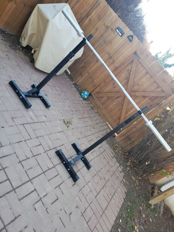 Squad rack and 7ft barbell