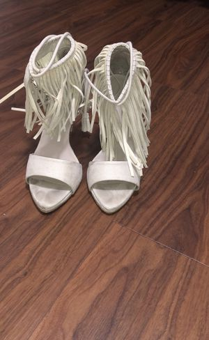 Zara suede fringe sandal heels size 8 for Sale in Brooklyn, NY