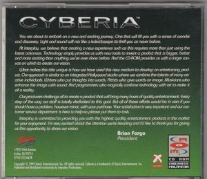 Cyberia CD-Rom Game by Interplay & Xatrix ~ 1994 for Sale in Stockton, CA