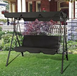 Shipping Only - Outdoor Canopy Swing Patio Chair Lounge 3-Person Seat Hammock Porch Bench Black for Sale in San Diego,  CA