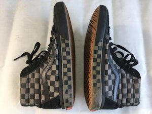Vans high top skateboard shoe checkered leather canvas men 5, women 6 for Sale in St. Petersburg, FL