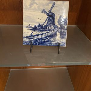 Delft Ceramic Blue and White Tile for Sale in Suffolk, VA