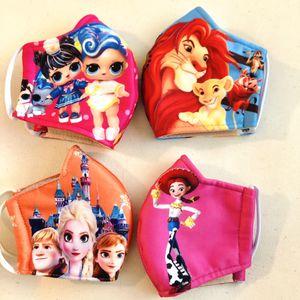 Bundle 4 masks for kids Toy Story Lion Ling Elsa for Sale in Las Vegas, NV