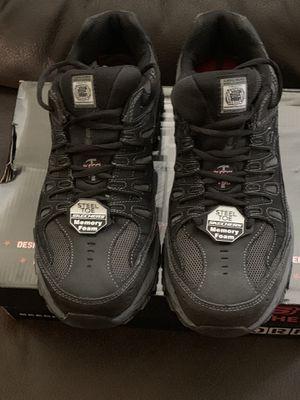 Men Skechers steel toe work shoe for Sale in Tampa, FL