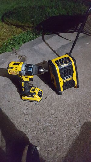 Dewalt power drill and speaker with 20v battery for Sale in Republic, MO