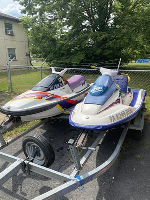 1996 GSX Sea Doo Bombardier , 1993 Yamaha Wave Runner 3, 1998 Load Rite double Trailer....all with Clean Titles for Sale in Harrisburg, PA