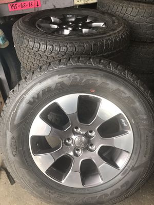 Jeep wheels / rims and tires for Sale in Lillington, NC