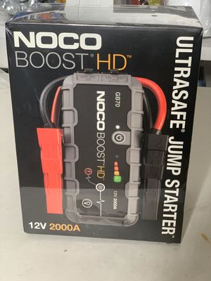 NOCO Boost HD GB70 2000 Amp 12-Volt UltraSafe Portable Lithium Car Battery Jump Starter Pack For Up To 8-Liter Gasoline And 6-Liter Diesel Engines for Sale in Orlando, FL