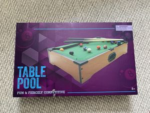 Mini pool table game for Sale in East Hartford, CT