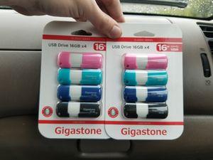 Gigastone 16 GB Flashdrives 2.0 for Sale in Sacramento, CA