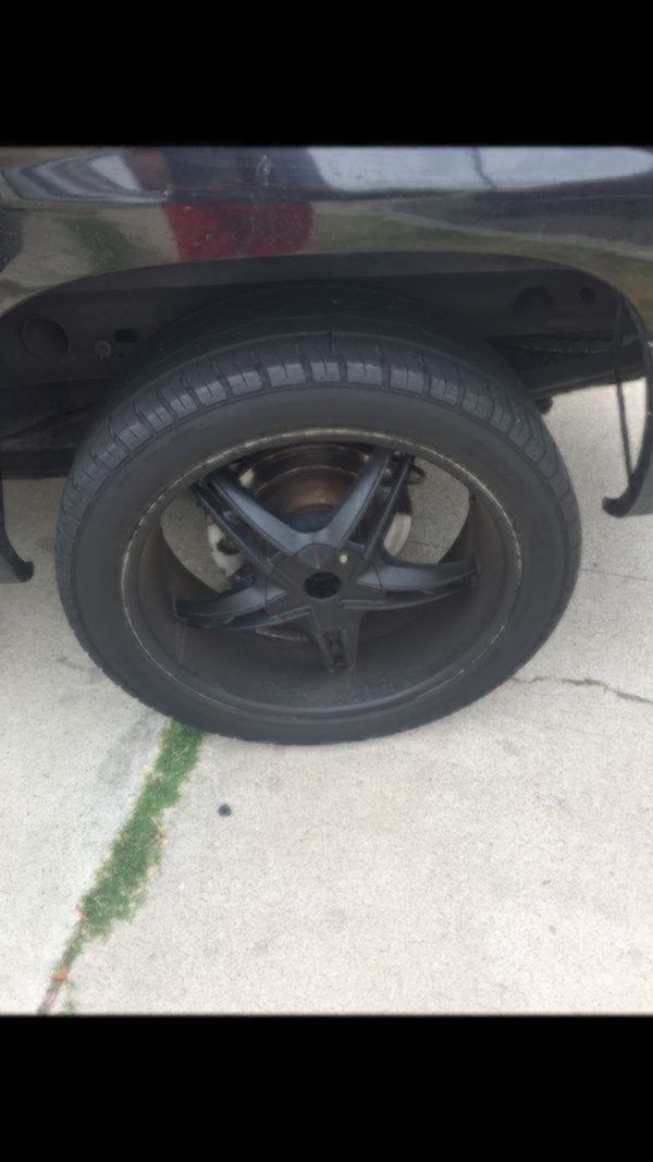 22' rims and tires six holes