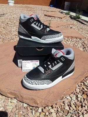 BRAND NEW JORDAN RETRO 3 BLACK CEMENT GS SZ.6Y OG BOX $220 for Sale in Las Vegas, NV