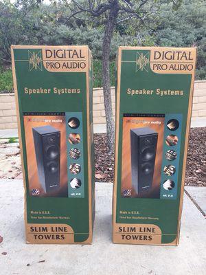 Pair of Digital Pro Audio - Slim Line Tower Speakers NEVER Opened! Offer Up! for Sale in Encinitas, CA