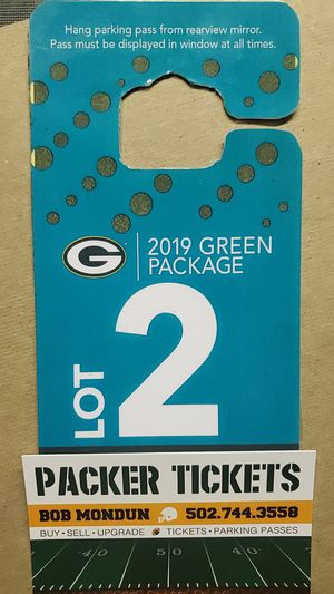 Packer Parking Pass for Sale in Green Bay, WI