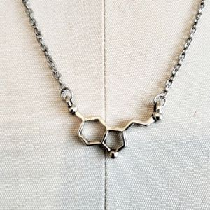 Silver Seratonin Necklace Molecular Structure Chemical Compound for Sale in Salt Lake City, UT