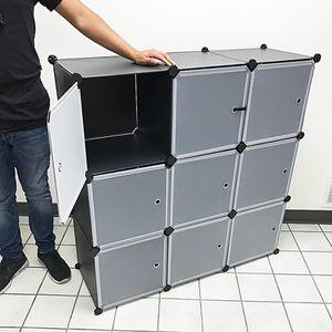 """Brand New $40 Plastic Storage 9-Cube DYI Shelf with Door Clothing Wardobe 43""""x14""""x43"""" for Sale in Whittier, CA"""