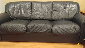 Leather sleeper couch for Sale in Baltimore, MD