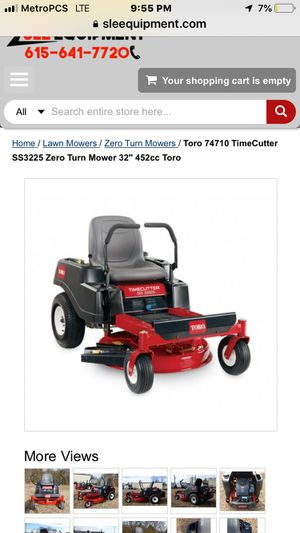 """Toro ss3225 32"""" deck zero turn tractor with 1 year warranty from dealer for Sale in Houston, TX"""