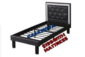 BRAND NEW BED FRAME TWIN COMES IN BOX 📢📢📢📢📢MATTRESS INCLUDED 📢📢📢📢📢AVAILABLE FOR SAME DAY DELIVERY OR PICK UP 📢📢📢📢 for Sale in Compton, CA