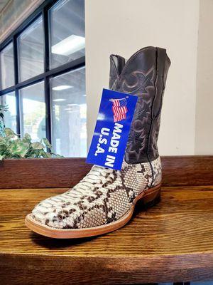 New men's genuine python western boots for Sale in Abilene, TX