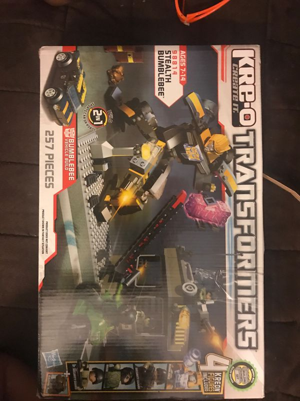 Kre-o creat it Transformers Stealth Bumblebee