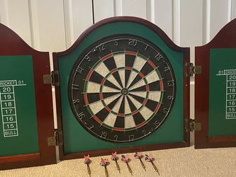 Dartboard with cabinet for Sale in Marshall,  VA