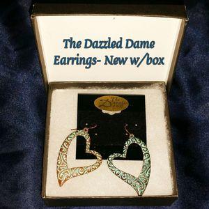 Teal & Bronze Heart Earrings- NIB for Sale in Romeoville, IL