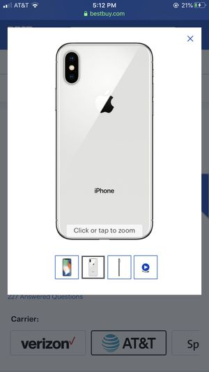 Apple iphone X AT&T ONLY for Sale in Fresno, CA