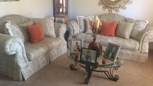 Couch and loveseat/ fire place with remote for Sale in Lynchburg, VA