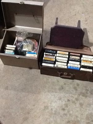 Old 8-track tape lot and carrying cases for Sale in York, PA