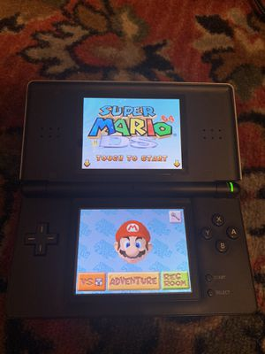 Black silver Nintendo ds lite with games for Sale in Redwood City, CA