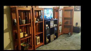 Solid oak bookshelves for Sale in Little Rock, AR