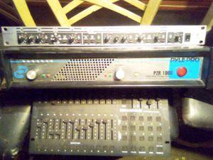 DJ equipment 2000 watt power ampliphier pzr1000 super x hi precision crossover model CX 2300 and a stage setter 24 light mixer for Sale in Hazard, CA