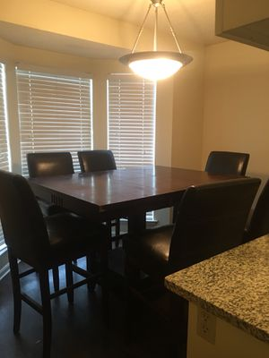 Tall wooden breakfast table and chairs for Sale in Hendersonville, TN