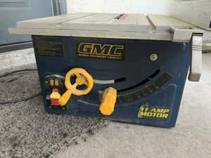 GMC 11 amp table Saw for Sale in Las Vegas, NV