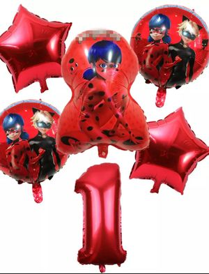 Ladybug Cat Noir miraculous balloons set party supplies for Sale in Glendale, AZ