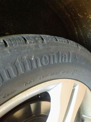 Continental car tires.set of 4. Not the rims. for Sale in Washington, IL