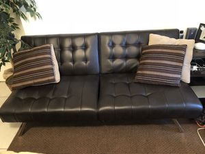 Leather futon for Sale in Clearwater, FL
