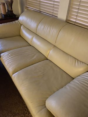 Leather couch and chair $125 for Sale in Henderson, NV