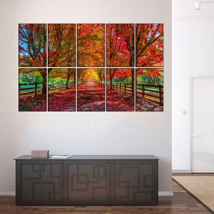 10 piece modern fall art HD picture poster print with glass frames. for Sale in Fort Lauderdale, FL