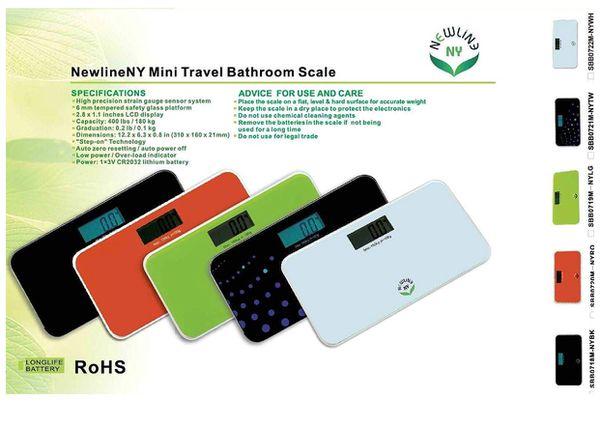 Auto Step-On Travel Bathroom Scale