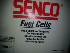 Senco fuel cells2 full cases and 1 case missing 2 boxes for Sale in Whipple, OH