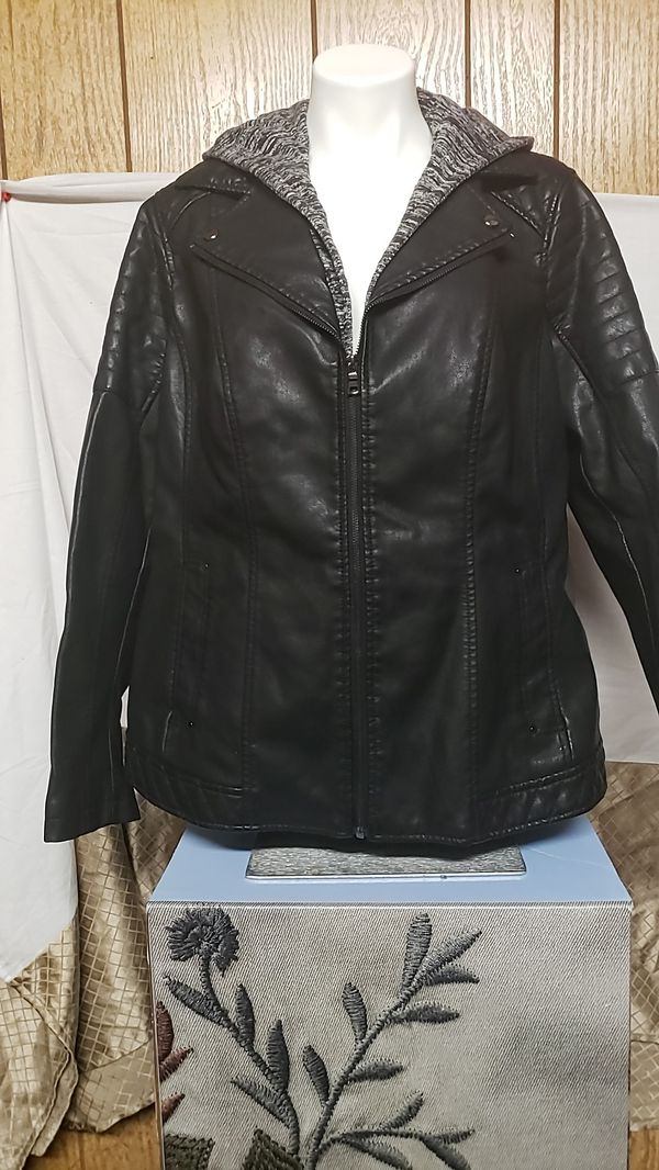 New Dress Barn Ladies Faux Leather Jacket Size 2X