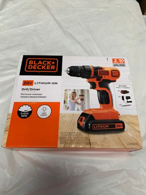 BLACK+DECKER 20V MAX Cordless Drill / Driver, 3/8-Inch for Sale in Hacienda Heights, CA