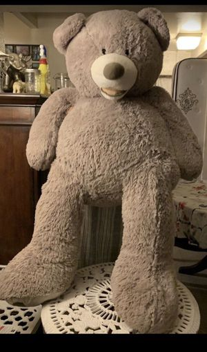 life size grey teddy bear for Sale in Los Angeles, CA