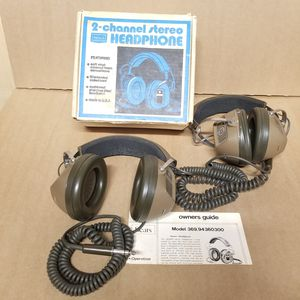 Vintage Koss Wired 2-Channel Stereo Over-The-Ear Headphones - K-6 and Sears Stereophones 9436 for Sale in Germantown, MD