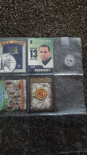 ALEX RODRIGUEZ colorized quarter with baseball card for Sale in Campbell, CA