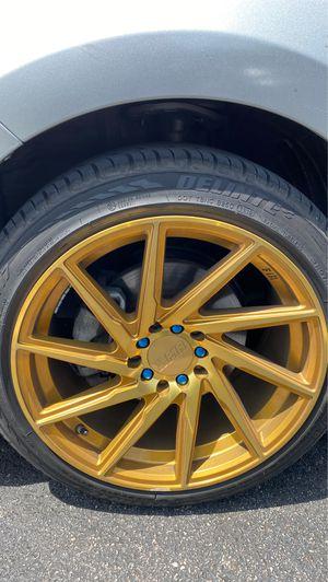 F1R Gold Rims 215/45R17 for Sale in Orlando, FL