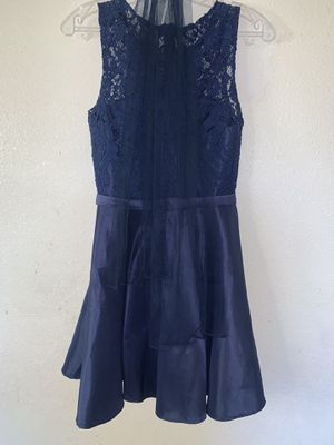 Navy blue special occasion dress with lace bodice. for Sale in Rowland Heights, CA